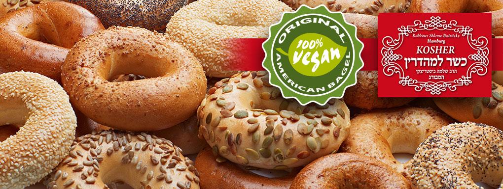 Vegane Bagel der American Bagel Company - Hamburg, Germany
